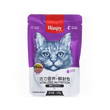 顽皮Wanpy 鸡肉鲜封包猫湿粮 80g 猫零食 小图 (0)
