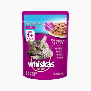 伟嘉 精选海洋鱼妙鲜包成猫湿粮包 85g