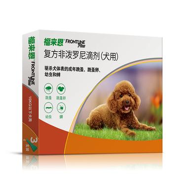 福来恩恩 犬用门外杀虫滴剂 小型犬10kg以下 整盒3支装/3个月剂量 法国进口