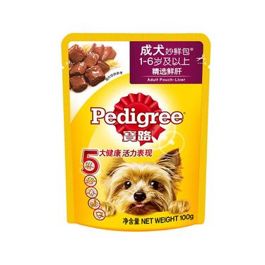宝路Pedigree 精选鲜肝成犬妙鲜包湿粮包 100g