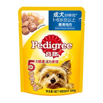 宝路 成犬鸡肉味妙鲜包100g 狗湿粮 小图 (0)
