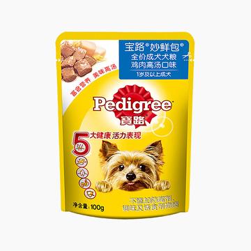 宝路Pedigree 鸡肉风味成犬妙鲜包 100g 狗湿粮 小图 (0)