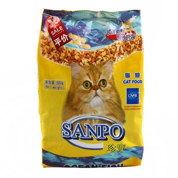 珍宝 成猫粮精选海洋鱼猫粮500g 明亮眼睛 小图 (0)