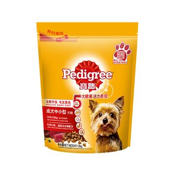 宝路 中小型成犬粮牛肉肝蔬菜及谷物狗粮1.8kg 小图 (0)