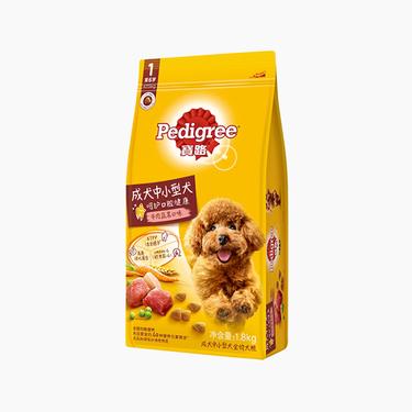 宝路Pedigree 牛肉肝蔬菜大中型成犬粮 1.8kg