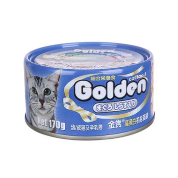 金赏Golden 金枪鱼+丁香鱼味猫罐头170g 猫湿粮 小图 (0)