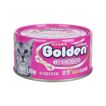 金赏Golden 金枪鱼+蟹肉味猫罐头170g 猫湿粮 小图 (0)