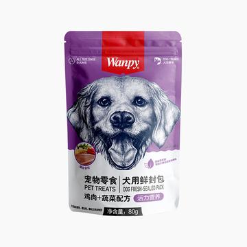 顽皮Wanpy 鸡肉蔬菜鲜封包狗湿粮 80g 小图 (0)