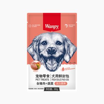 顽皮Wanpy 猪肉蔬菜鲜封包狗湿粮 80g 小图 (0)