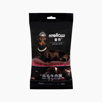 曼劳 亮毛牛肉圈美毛狗零食 400g 小图 (0)