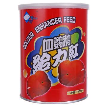 水亿方鹦鹉鱼增红饲料 增艳增红鱼饲料400g红罐 小图 (0)
