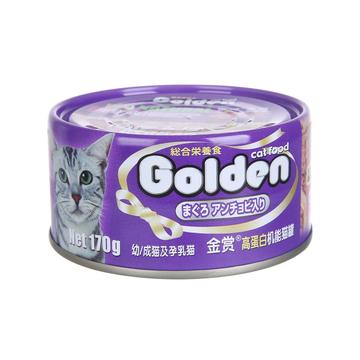 金赏Golden 金枪鱼凤尾鱼味猫罐头 170g 小图 (0)