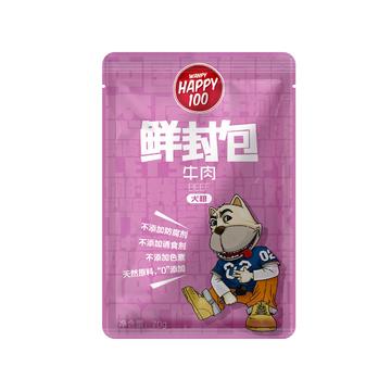 顽皮Wanpy happy100系列成犬牛肉午餐肉鲜封包70g 狗湿粮(新老包装随机发货) 小图 (0)