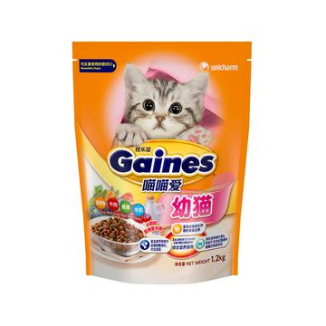佳乐滋 喵喵爱幼猫粮金枪鱼牛肉蔬菜牛奶配方猫粮1.2kg 小图 (0)