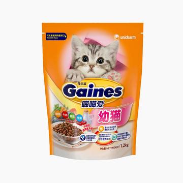 佳乐滋Gaines 喵喵爱幼猫粮金枪鱼牛肉蔬菜牛奶配方猫粮1.2kg 小图 (0)