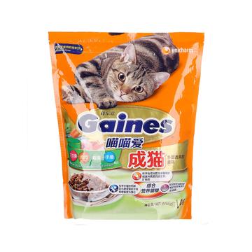 佳乐滋 喵喵爱成猫粮三文鱼鸡肉蔬菜小鱼配方猫粮1.4kg 小图 (0)