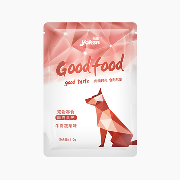 怡亲Yoken 牛肉蔬菜犬用湿粮鲜封包 110g 小图 (0)