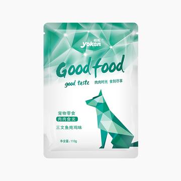 怡亲Yoken 三文鱼炖鸡犬用湿粮鲜封包110g 小图 (0)