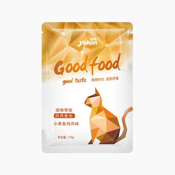 怡亲Yoken 精选小黄鱼鸡肉鲜封包猫湿粮 110g 小图 (0)