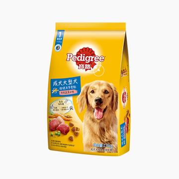 宝路Pedigree 牛肉蔬菜口味大型犬成犬粮 7.5kg 小图 (0)