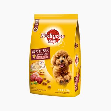 宝路Pedigree 牛肉肝蔬菜中小型成犬粮 7.5kg 小图 (0)