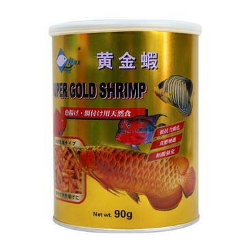 水亿方黄金虾龙鱼地图鹦鹉增色饲料冻干虾灌装90G 小图 (0)