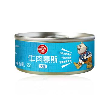 顽皮Wanpy happy100牛肉慕斯狗罐头95g 狗湿粮(新老包装随机发货) 小图 (0)