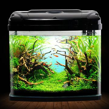 聚宝源鱼缸水族箱中小型高清创意生态金鱼缸桌面水族箱 小图 (0)