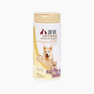 派锐 猫狗通用天然干粉免洗香波清洁去异味 226g 小图 (0)