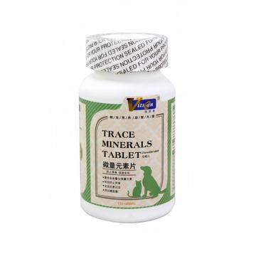 维斯康 微量元素咀嚼片150片/瓶 防止异食症 小图 (0)