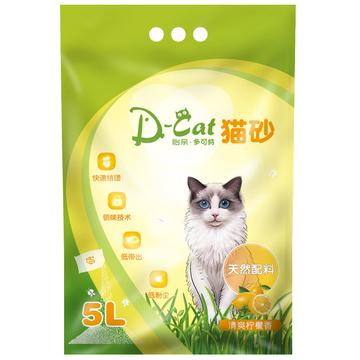 怡亲多可特 柠檬香型膨润土猫砂(5L)4kg (新老包装随机发货) 小图 (0)