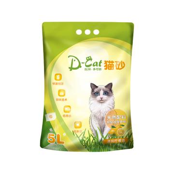 怡亲多可特 柠檬香型膨润土猫砂(5L)4kg 小图 (0)