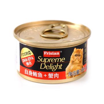 富力鲜 白身鲔鱼+蟹肉猫罐头85g 猫湿粮 小图 (0)