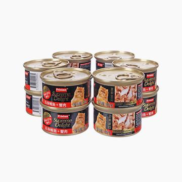 富力鲜Frisian 白身鲔鱼蟹肉猫罐头85g*12罐 猫湿粮零食 小图 (0)