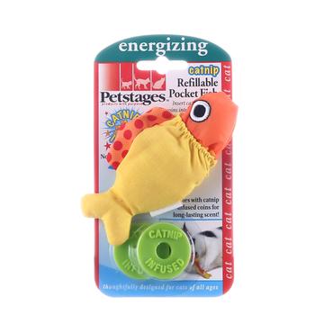 美国petstages 猫草填充鱼 猫玩具 小图 (0)