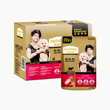 麦富迪 清炖牛肉肉粒狗湿鲜封包 95g*12 小图 (0)