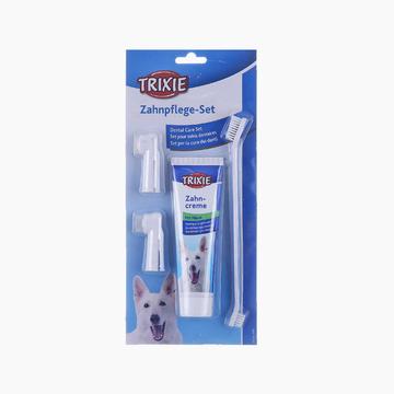 特瑞仕Trixie 猫狗通用清洁口腔薄荷牙膏套装100g 去口臭牙菌斑牙结石 小图 (0)