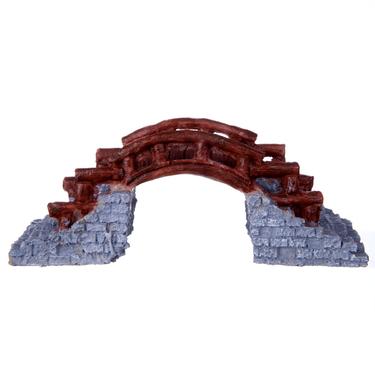 聚宝源龙城国际38元免费彩金箱鱼缸水池假山造景小桥064