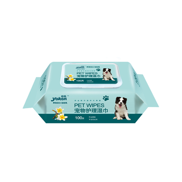 怡亲Yoken 宠物护理湿巾100片 猫狗通用 小图 (0)