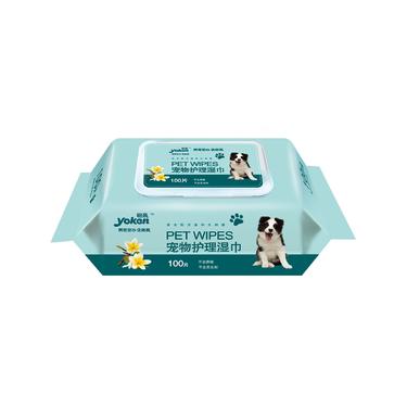 怡親Yoken 寵物護理濕巾100片 貓狗通用