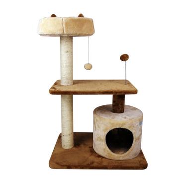 田田猫 猫爬架TTMWJ-015米黄色 咖色 天然剑麻磨爪玩耍猫玩具 小图 (0)