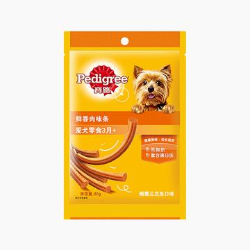 宝路Pedigree 烟熏三文鱼味鲜香肉味条 80g 狗零食 小图 (0)