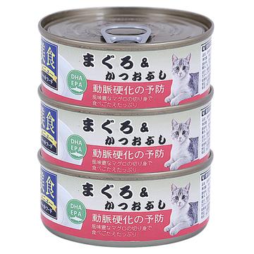爱丽思IRIS  金枪鱼&鰹魚花猫罐头100g*3罐 猫湿粮 小图 (0)