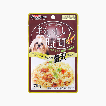 日本多格漫Doggyman 犬用低脂肪鸡肉鸡肝五种蔬菜湿粮75g 狗湿粮训练奖励零食罐头 小图 (0)