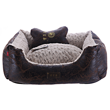 爱宝嘉 复古黑玫瑰绒宠物窝 送配套靠枕 全可拆洗 小图 (0)