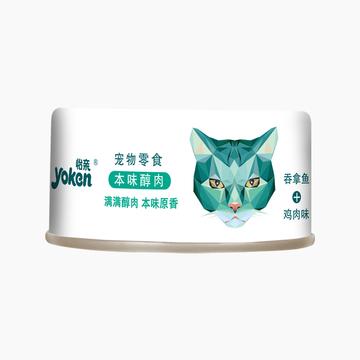 怡亲Yoken 吞拿鱼鸡肉配方猫罐头 80g 小图 (0)