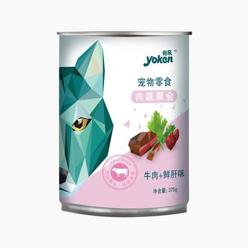 怡亲Yoken 牛肉鲜肝配方狗罐头 375g 小图 (0)