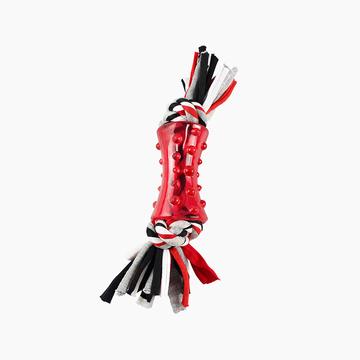 Petmate 狗斯拉橡胶绳结双重洁牙玩具 小图 (0)