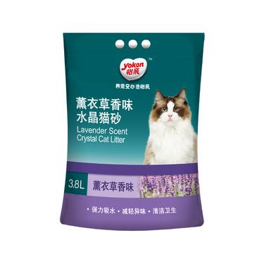 怡亲Yoken 薰衣草香味水晶猫砂3.8L 1.4kg