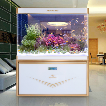 闽江生态鱼缸1.2 米1.5水族箱底滤玻璃大型中型创意屏风金鱼缸 小图 (0)